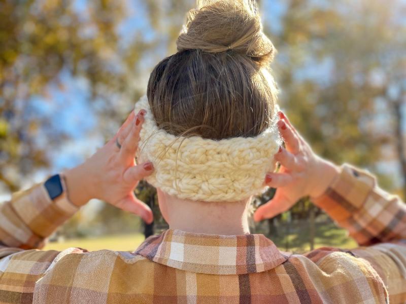 crochet bulky headband