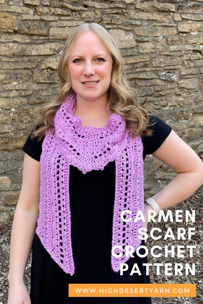 carmen scarf crochet pinterest