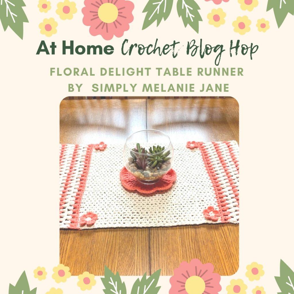 floral delight crochet table runner